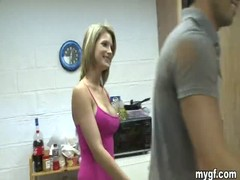 Kinky dudes makes a blowjob contest with hot college babes Thumb