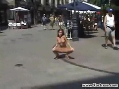 taut  Brunette Shows All in Public Thumb