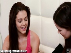 Webyoung Step-sisters three-way catfight over lezzie teenage Thumb