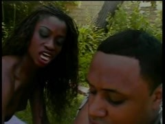 Monique gets fucked and creamed on the lawn after sucking cock Thumb
