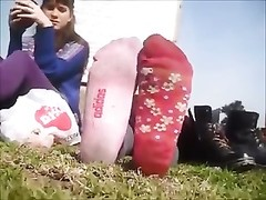Stinky Shoe and Socks omit at the Park - Feet Thumb