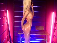 Kerrie Lee Oiled up on a Desk on S66 Thumb