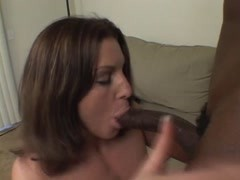 Little peach tits brunette ravaged by black cock in the living room Thumb