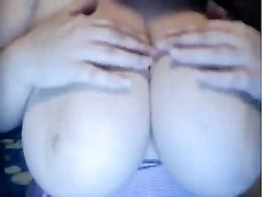 large informal melons spanked and played with by sweetheart  on cam Thumb
