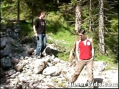 Outdoor lads pummeling Thumb