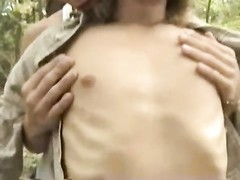 two  homosexual studs blow in a forest & car Thumb