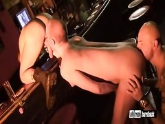 bareback threesome in a sex-shop Thumb