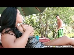 large knocker latina gets screwed in the pool Thumb