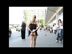 lovely model Flashing in Streets BVR Thumb