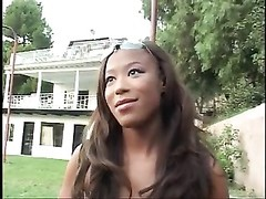 killer black asian stunner gets her little mouth torn up by big shadowy chisel Thumb