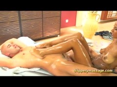 Chocolade slippery nuru massage fuck Thumb