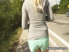 Bigtit does anal invasion outdoors for cash Thumb