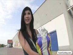 Aspiring teenage  model gets tricked by an agent and she gets drilled outdoor Thumb