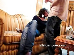 African babe gargles  off photographer for more money Thumb