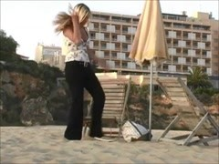 Alison - Strips & Play almost Nude on a Beach Thumb