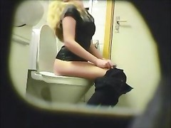blonde inexperienced teenage  toilet cunt bootie hidden glimpse cam voyeur 9 Thumb