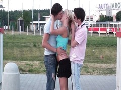 Teenagers PUBLIC gangbang in the street fragment one Thumb