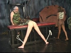 Sexy chick submits to black Dom and white Domme Thumb