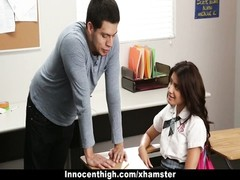 InnocentHigh - Ava Mendes smashes Her Teacher For An A+ Thumb