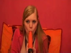 Nice teen talks dirty and use vibrator Thumb