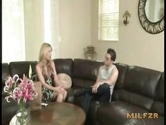 Mom tries new bra and panty in front of son and screwed milfzrcom. Thumb