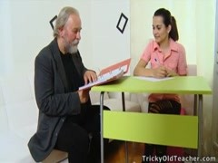 Tricky Old Teacher - Lora is a struggling student Thumb