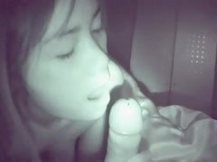 Nightview Thai girl sucking and swallowing Thumb