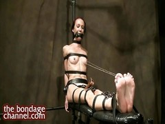 Fitness mannequin trussed puffies  orgasm predicament Thumb
