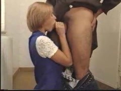Young lady having lusty sex in bathroom Thumb