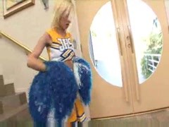Cheerleader selling chocolate and taking creampie Thumb