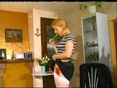 Teenage blonde with small tits does two guys Thumb