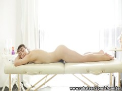 RubATeen Exotic European beauty fucked in the massage salon Thumb