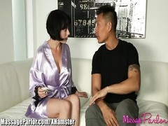 massage salon  naughty Masseuse sucks oriental stiffy Thumb