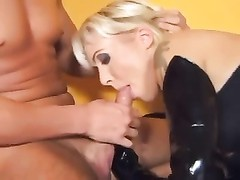 ass fucking three way with blondes in fishnet stockings Thumb