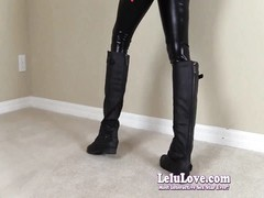 Lelu Love-Leather Jacket Leggings footwear  Thrusting Thumb