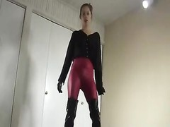 footwear gloves and spandex thrusting Thumb