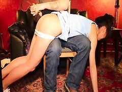 bootie flagellating  for Kelly Kitty the chinese Cheerleader Thumb