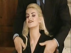 Vintage blonde yam-sized man meat anal invasion Thumb