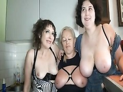 trio  French used elephantine anal sex Orgy Thumb