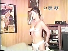 old VHS gauze  Of ancient beefy dude poking  His beautiful youthfull  wife dull! Thumb