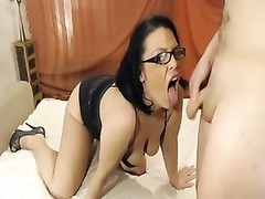 Homemade oral pleasure and doggystyle for glasses chick Thumb