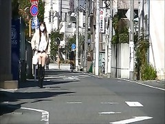 Japanese Crossdresser pantyhose Public Exhibitionism Upskirt Thumb