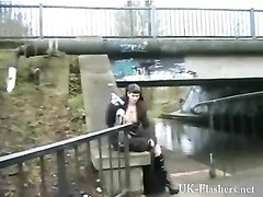 petite goth tugging in public for tattooed english Thor Thumb