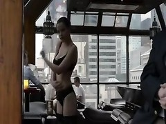 spectacular lady in undies flashes titties at crowded restaurant Thumb