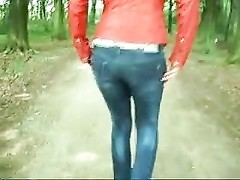 Flashing ass in the forest Thumb