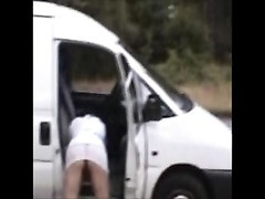 primitive Amy Flashes Her vagina by The Roadside Thumb