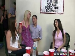 Great party goes wild with young and kinky college babes Thumb