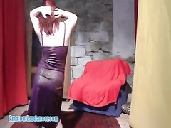 Exotic redhead lapdancer lets me wank off to her moves Thumb
