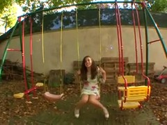 French teen Tiffanie loves to fuck in the garden Thumb