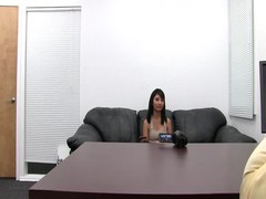 Young babe is getting naked in the video by Backroom Casting Couch Thumb